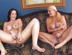 Jayden Jaymes and Sophie Dee receive silly and hawt