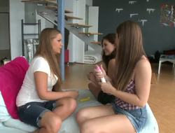With Dani Daniels, Mercedes Lynn and Shyla Jennings things couldnt possibly receive any hotter! 3 lovely legal age teenagers buy various sex toys and head back home to try them out!